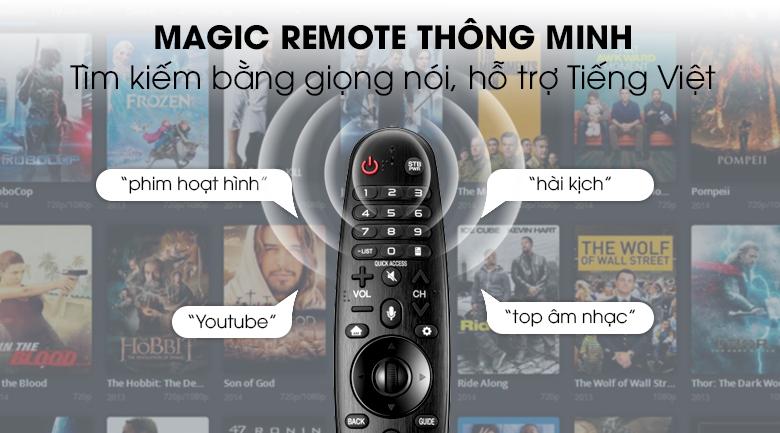 Smart Tivi LG 4K 55 inch 55SM8600PTA - Remote thông minh