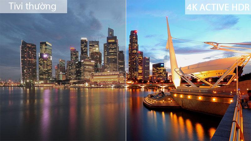 Công nghệ 4K Active HDR - Smart Tivi LG 4K 55 inch 55SM9000PTA