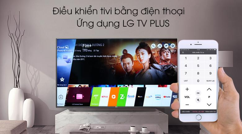 Điều khiển tivi bằng điện thoại qua ứng dụng LG TV Plus - Smart Tivi LG 4K 55 inch 55SM9000PTA