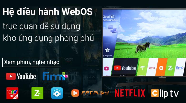 Smart Tivi LG 4K 75 inch 75SM9000PTA - Hệ điều hành WebOS 4.5 dễ sử dụng