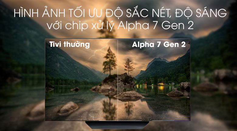 Smart Tivi OLED LG 4K 55 inch 55B9PTA - Chip xử lý Alpha 7 Gen 2
