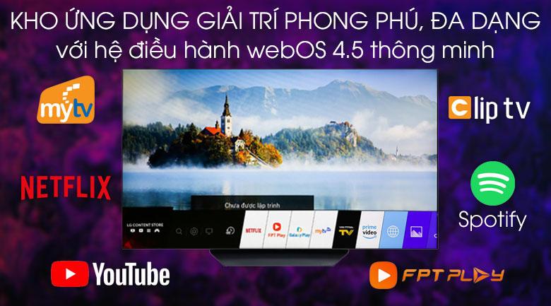Tivi OLED LG 4K 55 inch 55B9PTA - Hệ điều hành WebOS 4.5