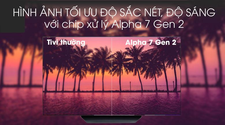 Smart Tivi OLED LG 4K 65 inch 65B9PTA - Chip xử lý Alpha 2 thế hệ 2