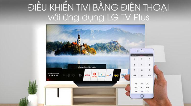Tivi OLED LG 4K 65 inch 65B9PTA - Điều khiển tivi bằng điện thoại qua ứng dụng LG TV Plus