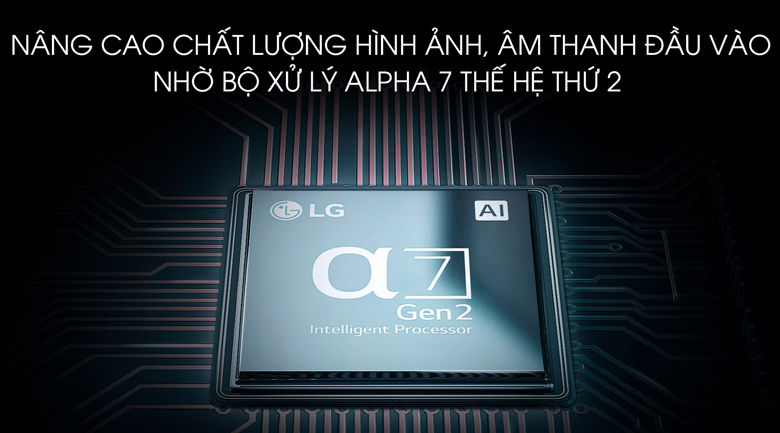 Smart Tivi OLED LG 4K 65 inch 65B9PTA - Chip xử lý Alpha 7 thế hệ thứ 2