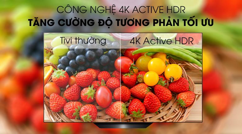Smart Tivi OLED LG 4K 65 inch 65B9PTA có công nghệ 4K Active HDR