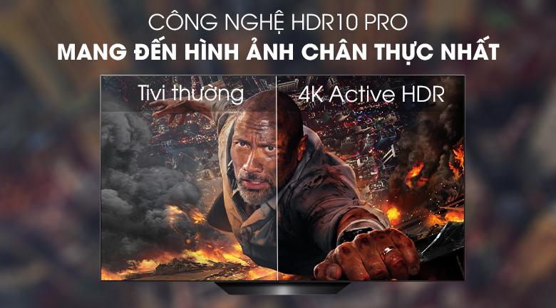 Smart Tivi OLED LG 4K 65 inch 65B9PTA có công nghệ HDR 10 PRO mang đến hình ảnh chân thật nhất