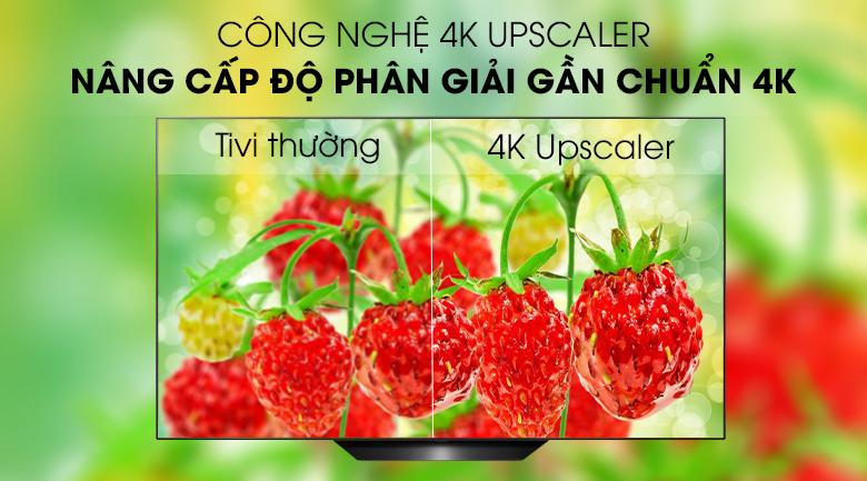 Smart Tivi OLED LG 4K 65 inch 65B9PTA công nghệ 4K Upscaler trên smart tivi LG