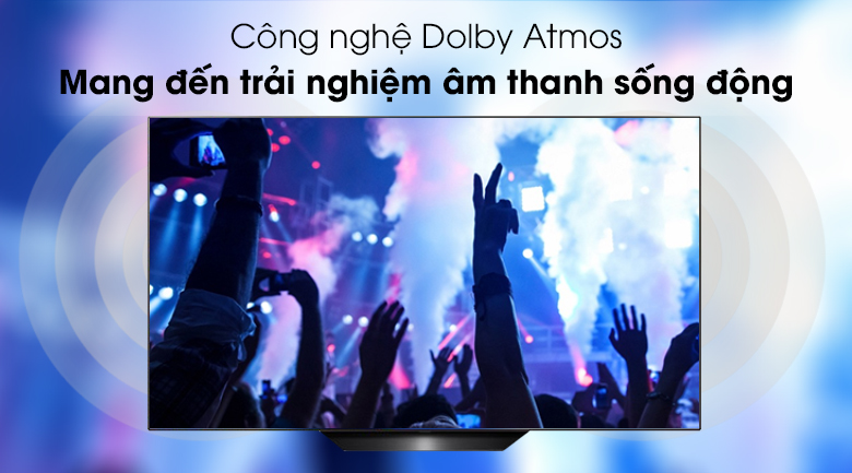 Smart Tivi OLED LG 4K 65 inch 65B9PTA có công nghệ âm thanh Dolby Atmos