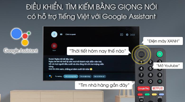Remote thông minh - Android Tivi Sony 4K 85 inch KD-85X9500G