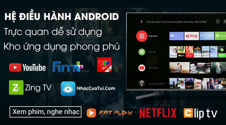Android Tivi Sony 4K 85 inch KD-85X9500G sở hữu hệ điều hành Android O (Android 8.0 Oreo)
