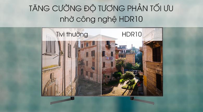 Công nghệ tạo màu HDR10 tăng cường độ tương phản, mang đến những khung hình chân thực, rõ nét - Android Tivi Sony 4K 85 inch KD-85X9500G