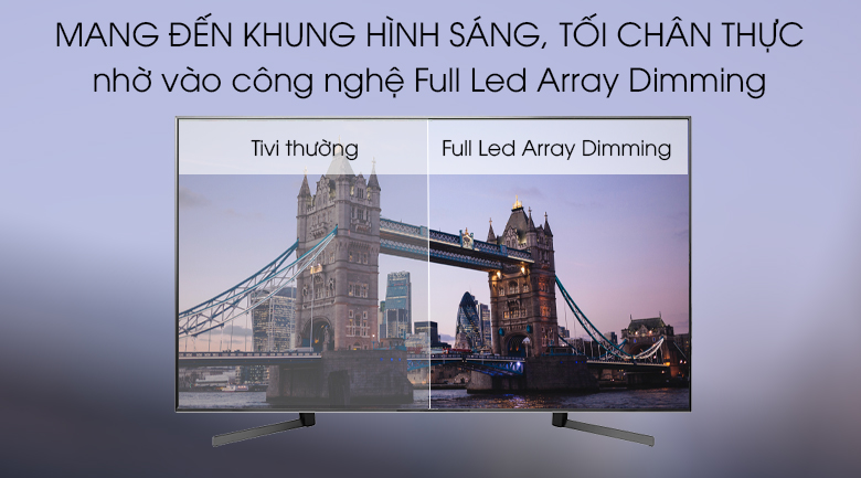 Công nghệ Full Led Array Dimming mang đến trải nghiệm hình ảnh chân thực với màu sáng, tối thể hiện chính xác - Android Tivi Sony 4K 85 inch KD-85X9500G