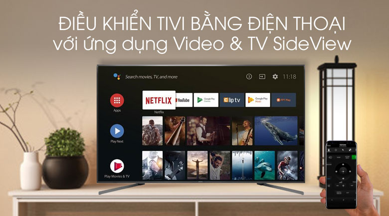 Video & SideView-Android Tivi Sony 4K 85 inch KD-85X9500G