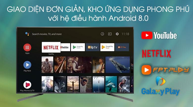 Hệ điều hành-Android Tivi Sony 4K 85 inch KD-85X9500G