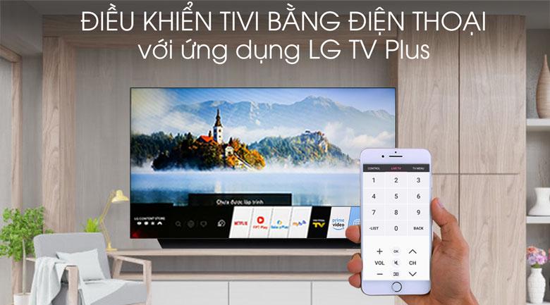Tivi OLED LG 4K 55 inch 55C9PTA - Điều khiển tivi bằng điện thoại qua ứng dụng LG TV Plus