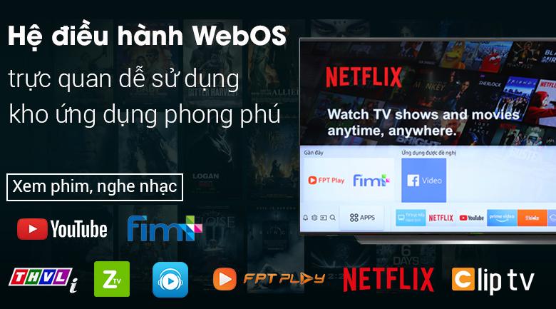 Smart Tivi OLED LG 4K 55 inch 55C9PTA có hệ điều hành WebOS 4.5 với các ứng dụng phong phú