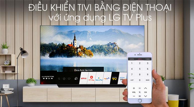 Tivi OLED LG 4K 65 inch 65C9PTA - Điều khiển tivi bằng điện thoại qua ứng dụng LG TV Plus