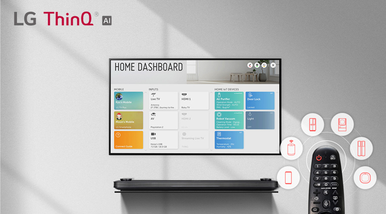 Smart Tivi OLED LG 4K 65 inch 65C9PTA trang bị LG AI ThinQ- trí thông minh nhân tạo giúp tivi thông minh hơn