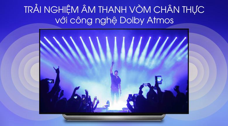 Smart Tivi OLED LG 4K 77 inch 77C9PTA có công nghệ Dolby Atmos