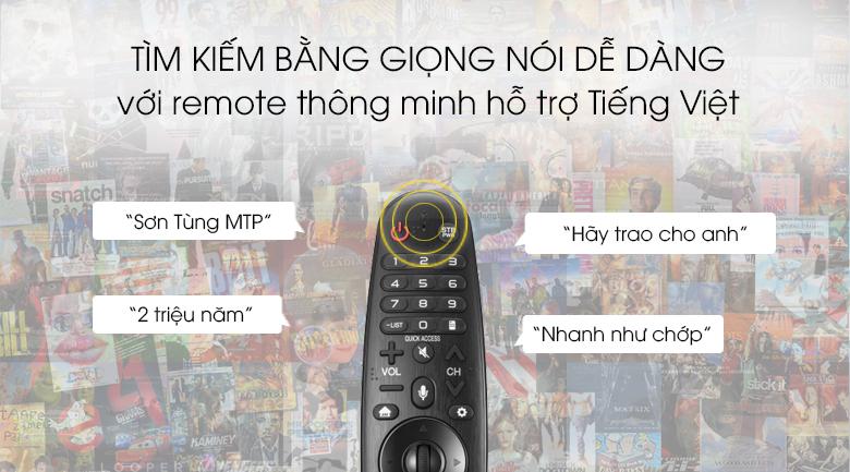 Smart Tivi OLED LG 4K 77 inch 77C9PTA - Tìm kiếm giọng nói hỗ trợ Tiếng Việt