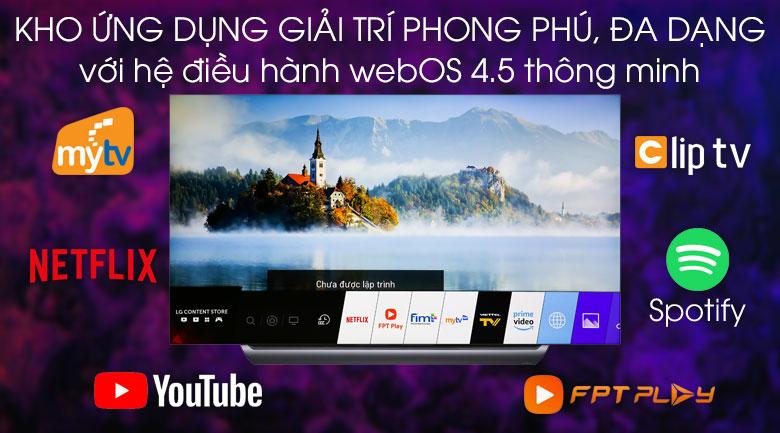 Smart Tivi OLED LG 4K 77 inch 77C9PTA - Hệ điều hành WebOS 4.5