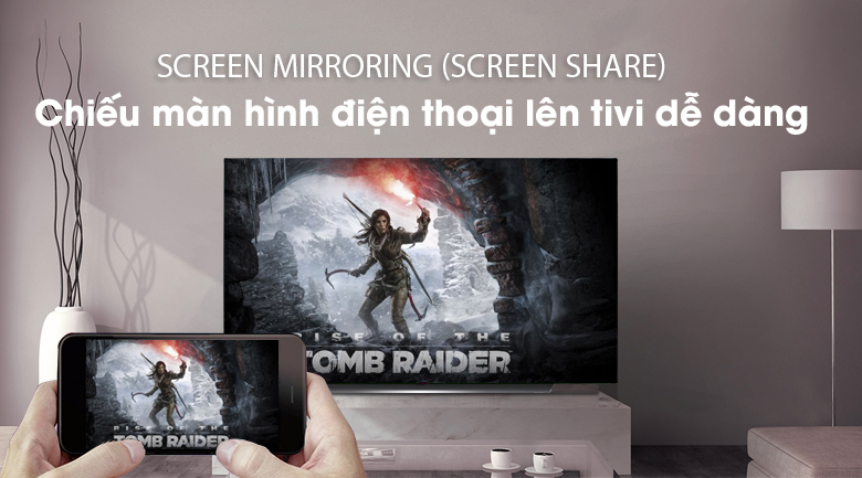 Tính năng Screen Mirroring (Screen Share) - Smart Tivi OLED LG 4K 77 inch 77C9PTA