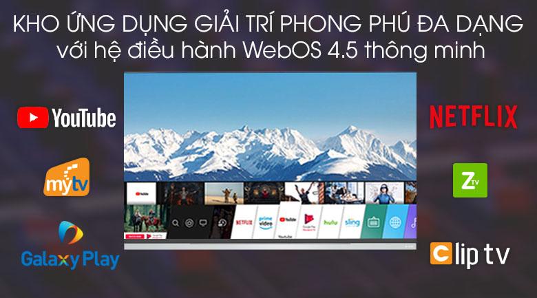 Tivi OLED LG 4K 55 inch 55E9PTA - Hệ điều hành WebOS 4.5