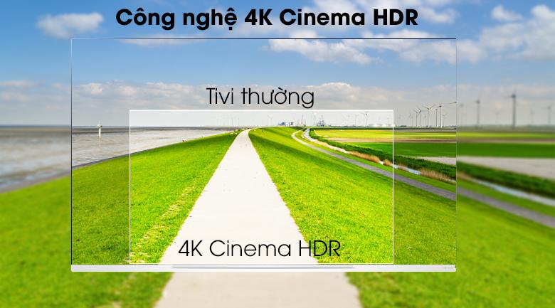 Smart Tivi OLED LG 4K 65 inch 65E9PTA có công nghệ 4K Cinema HDR