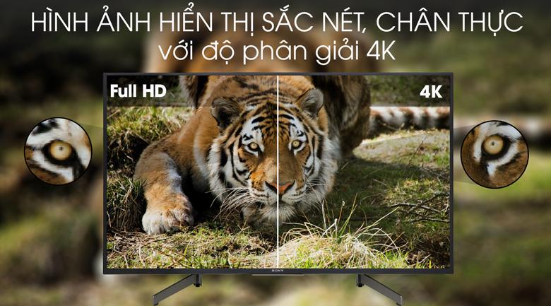 Tivi Sony 4K 65 inch KD-65X7000G - độ phân giải