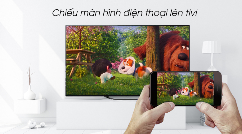 Android Tivi OLED Sony 4K 55 inch KD-55A8G - Screen Mirroring