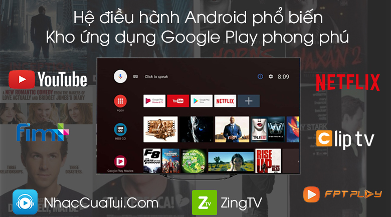 Android Tivi OLED Sony 4K 65 inch KD-65A8G - Android