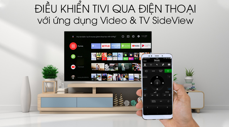 Android Tivi OLED Sony 4K 65 inch KD-65A8G - Video & TV SideView