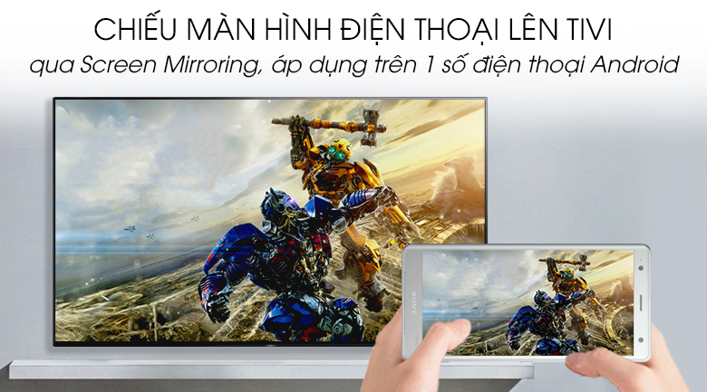 Android Tivi OLED Sony 4K 55 inch KD-55A9G - Screen Mirroring