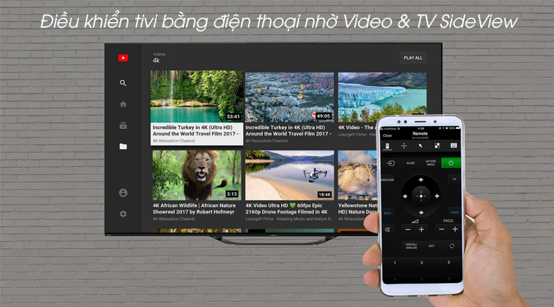 Android Tivi OLED Sony 4K 55 inch KD-55A9G - Video & TV SideView
