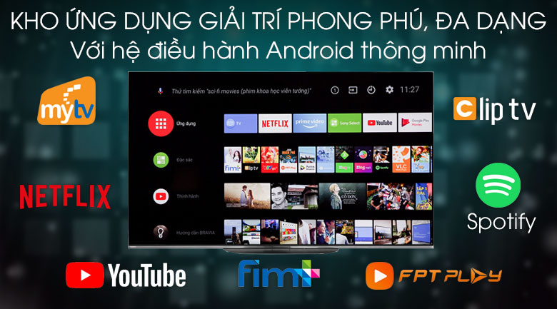 Android Tivi OLED Sony 4K 55 inch KD-55A9G - Android