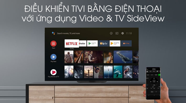Video & TV side View-Tivi OLED Sony KD-65A9G