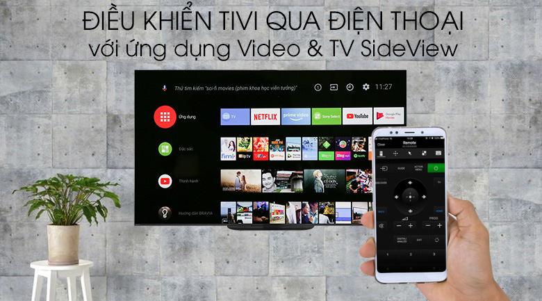 Android Tivi OLED Sony 4K 65 inch KD-65A9G - Video & TV SideView