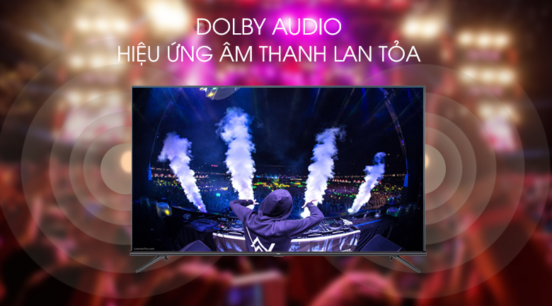 Android Tivi TCL 4K 55 inch L55A8 - Dolby Audio