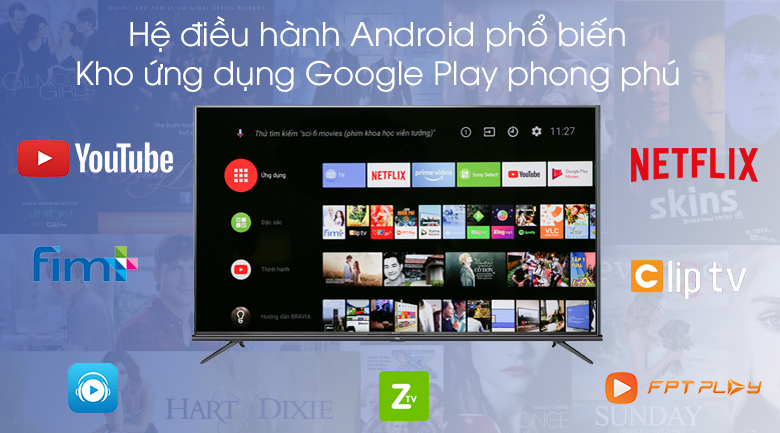 Android Tivi TCL 4K 55 inch L55A8 - Android