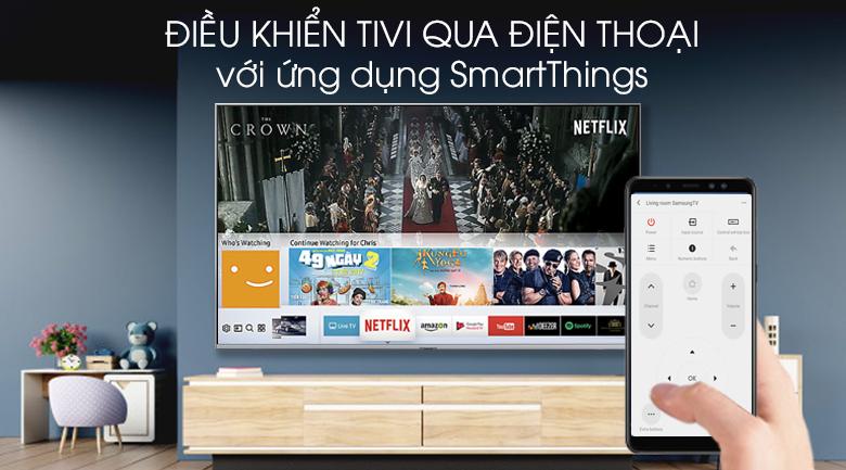 Smart Tivi QLED Samsung 4K 82 inch QA82Q75R - SmartThings