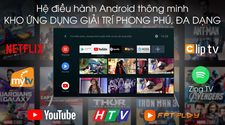 Android Tivi TCL 4K 50 inch L50P8S - Android 9.0