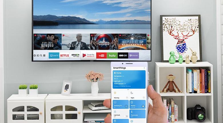 Smart Tivi Khung Tranh QLED Samsung 4K 65 inch QA65LS03R - SmartThings