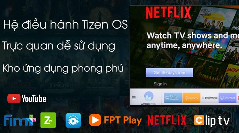 Hệ điều hành Tizen dễ sử dụng - Smart Tivi Khung Tranh QLED Samsung 4K 55 inch QA55LS03R