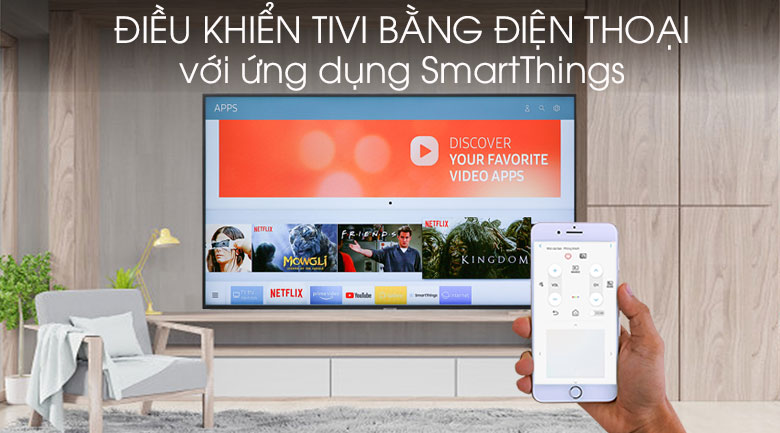 Smart Tivi Samsung 4K 70 inch UA70RU7200 - SmartThings