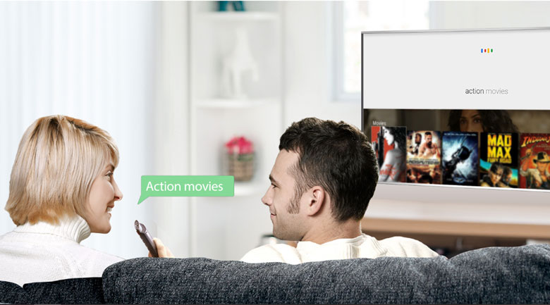 Android Tivi TCL 4K 55 inch L55C8 - Remote thông minh