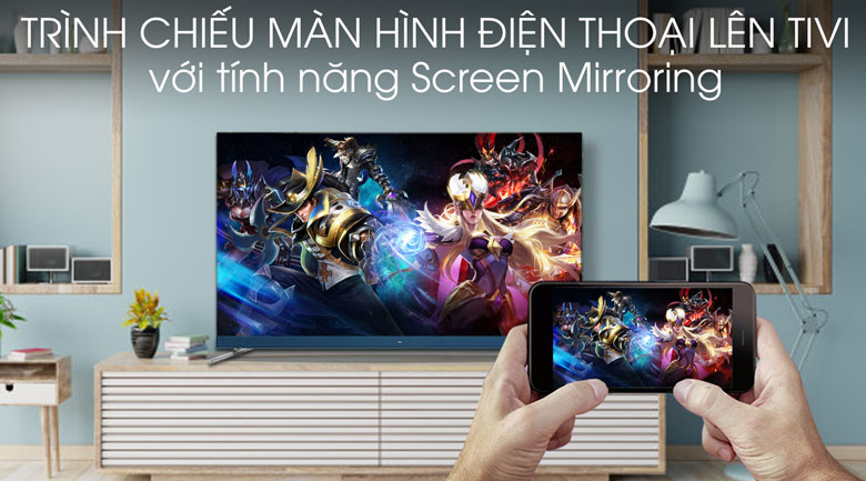 Android Tivi TCL 4K 55 inch L55C8 - Screen Mirroring