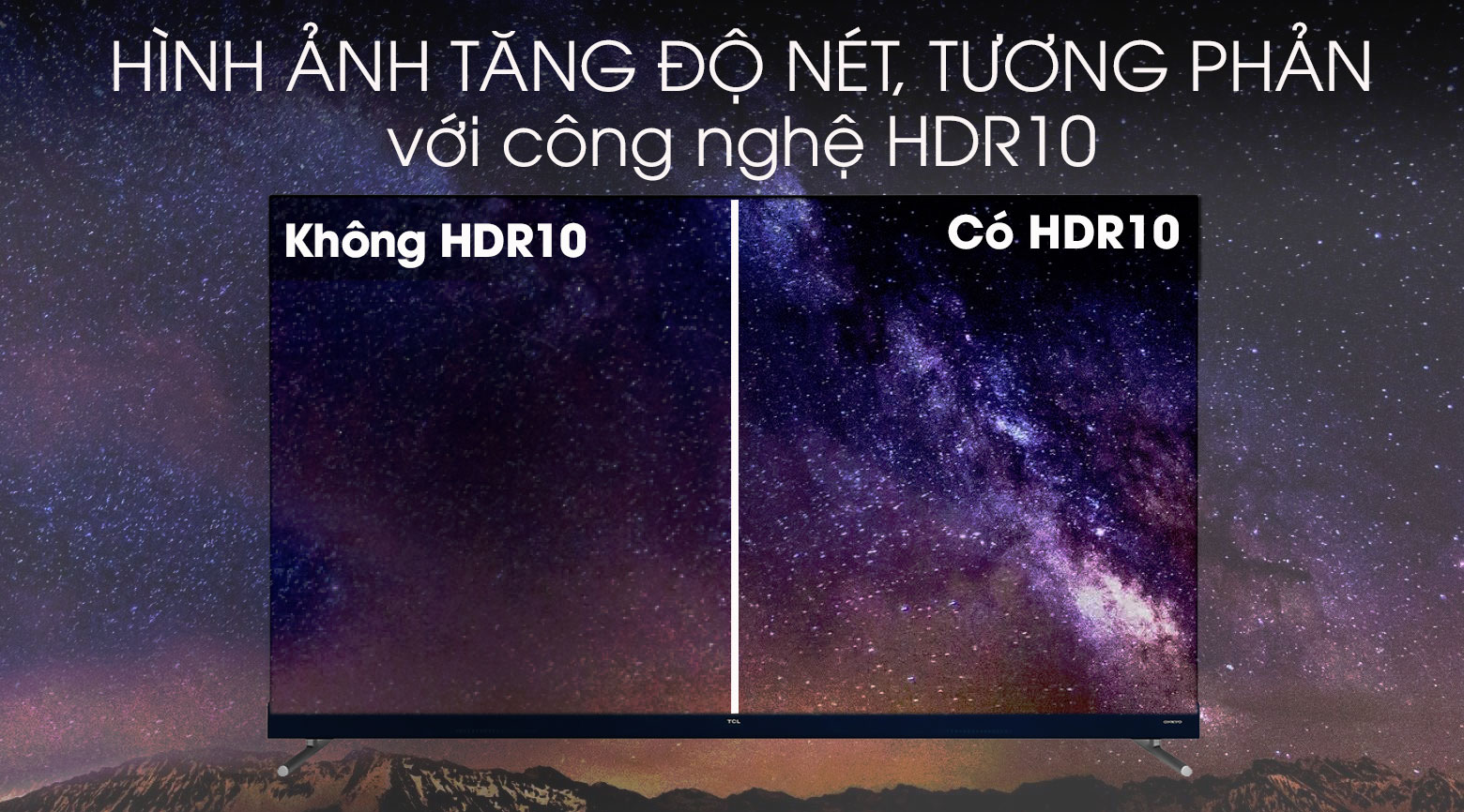 Android Tivi TCL 4K 55 inch L55C8 - hdr10