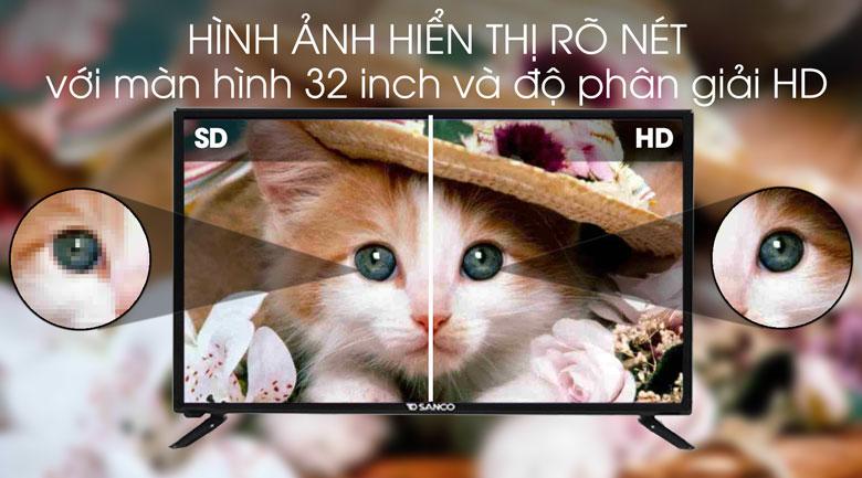 Tivi Sanco 32 inch H32T100 - Độ phân giải HD