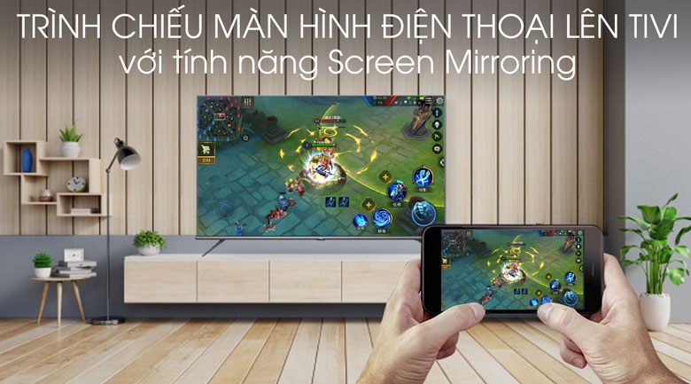 Android Tivi TCL 4K 75 inch L75A8 - Screen Mirroring